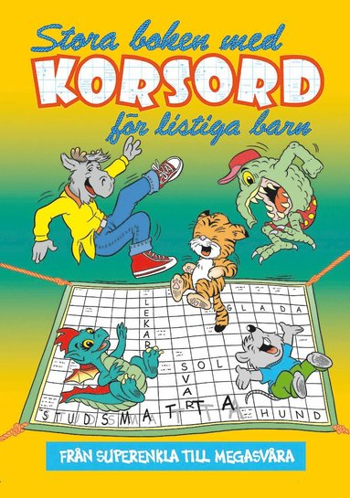 bokomslag Stora boken med korsord för listiga barn