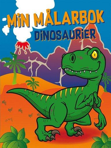 bokomslag Min målarbok : dinosaurier