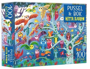 Pussel & bok: Hitta djuren!