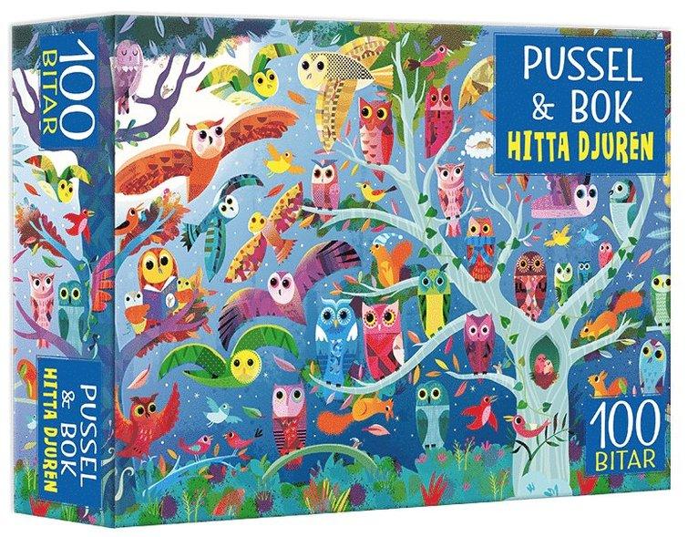 Pussel & bok: Hitta djuren! 1