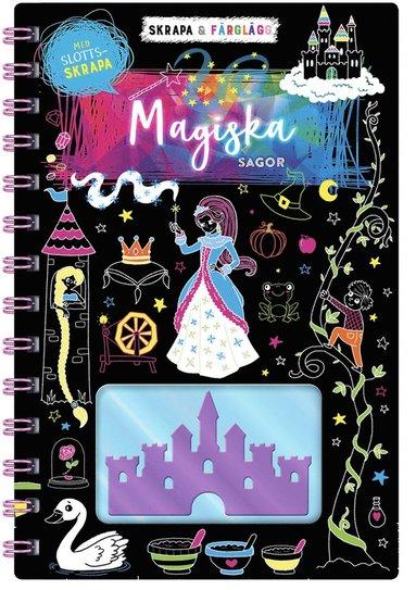 bokomslag Skrapa & färglägg : magiska sagor