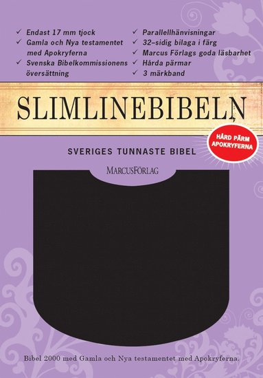 bokomslag Slimline Bibeln svart cabraskinn med apokryferna