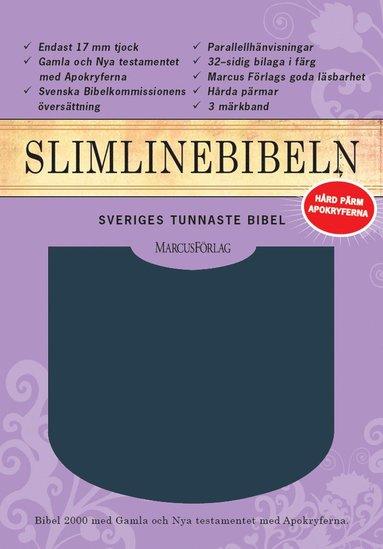 bokomslag Slimline Bibeln blå cabraskinn med apokryferna
