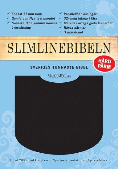 bokomslag Slimline Bibeln svart konstskinn utan apokryferna