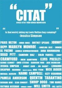 """bokomslag """"Citat"""" : coola citat från kända människor"""