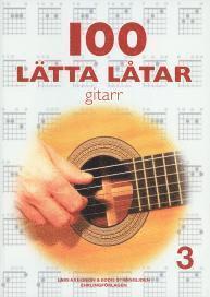 bokomslag 100 lätta låtar gitarr 3