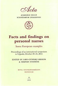 bokomslag Facts and findings on personal names : some European examples