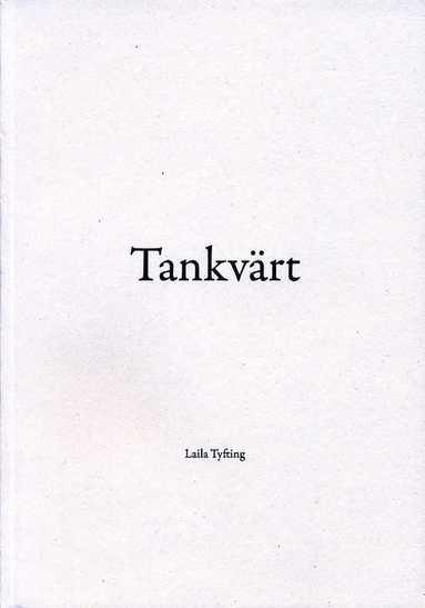 bokomslag Tankvärt