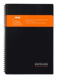 Kollegieblock Whitelines A4 linjerad svart