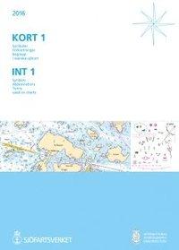 bokomslag KORT 1: Symboler - Förkortningar - Begrepp i svenska sjökort - INT 1: Symbols - Abbreviations - Terms used on charts