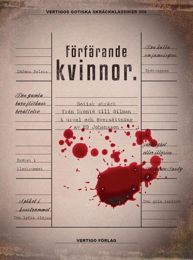 bokomslag Förfärande kvinnor : gotisk skräck från Brontë till Gilman i urval och översättning av KG Johansson