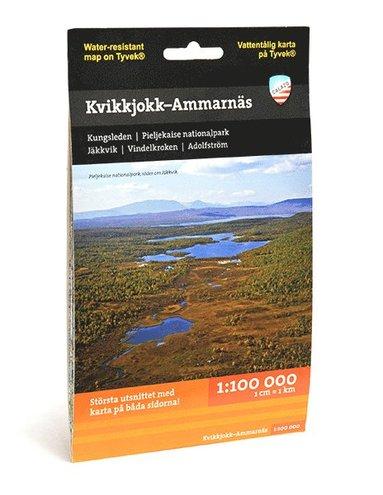 bokomslag Kvikkjokk - Ammarnäs (1:100 000)