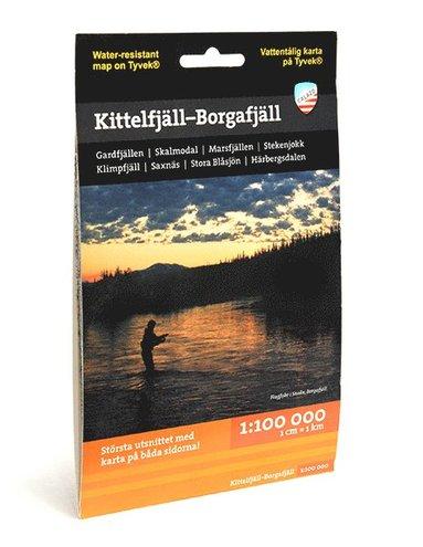 bokomslag Kittelfjäll - Borgafjäll (1:100 000)