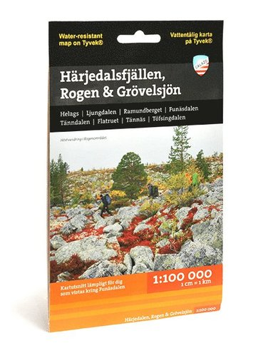 bokomslag Härjedalsfjällen, Rogen & Grövelsjön (1:100 000)