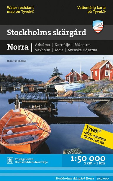 bokomslag Stockholms skärgård - Norra (1:50 000)
