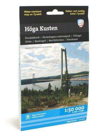 bokomslag Höga kusten - tyvekkarta 1:50000