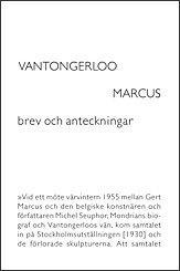 bokomslag Vantongerloo Marcus : brev och anteckningar