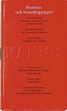 bokomslag Konsten och konstbegreppet - Skriftserien Kairos Nr 1