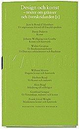 bokomslag Design och konst D. 1 : Texter före 1960 : Skriftserien Kairos Nr 8:1