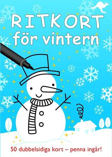 bokomslag Ritkort för vintern - 50 dubbelsidiga kort - penna ingår