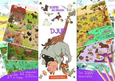 bokomslag Djur - klistra och färglägg! : innehåller över 1 000 klistermärken