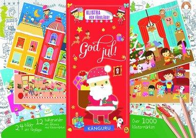 bokomslag God jul! : klistra och färglägg!