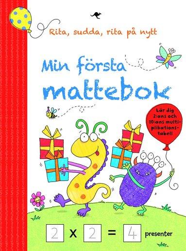 bokomslag Min första mattebok: Rita, sudda, rita på nytt
