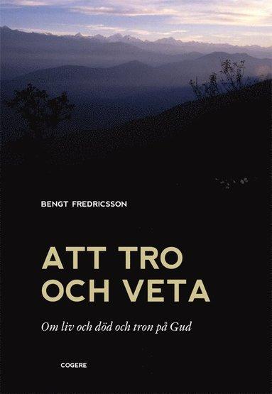 bokomslag Att tro och veta : om liv och död och tron på Gud