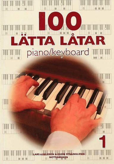 bokomslag 100 lätta låtar piano keyboard 1