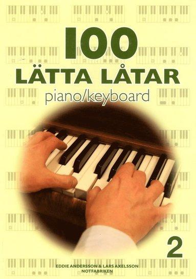 bokomslag 100 lätta låtar piano keyboard 2