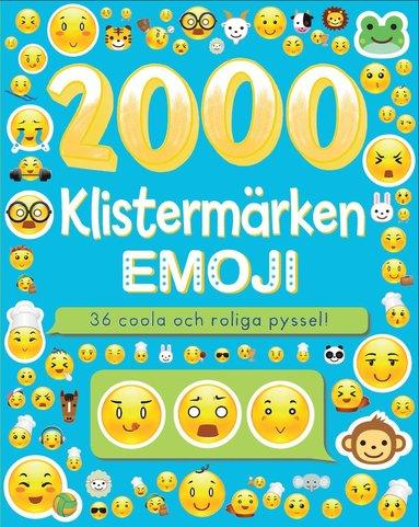 bokomslag 2000 klistermärken : emoji - 36 coola och roliga pyssel!
