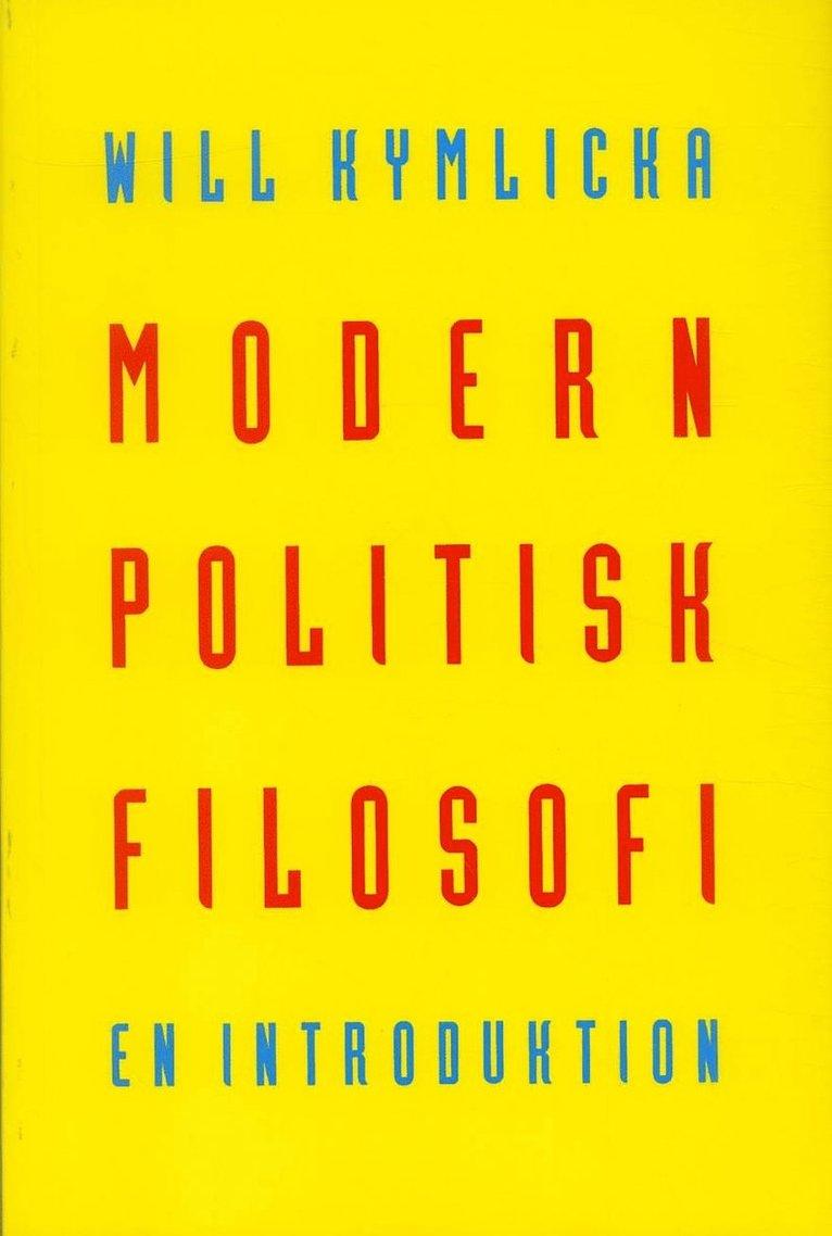 Modern politisk filosofi : En introduktion 1