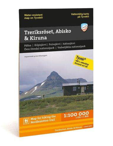 bokomslag Treriksröset, Abisko & Kiruna 1:100.000
