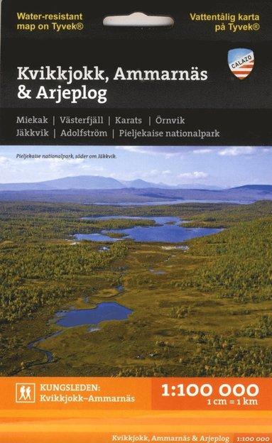 bokomslag Kvikkjokk, Ammarnäs & Arjeplog 1:100.000