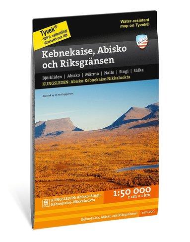bokomslag Kebnekaise, Abisko och Riksgränsen 1:50.000