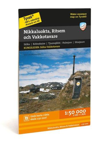 bokomslag Nikkaluokta, Ritsem & Vakkotavare 1:50.000