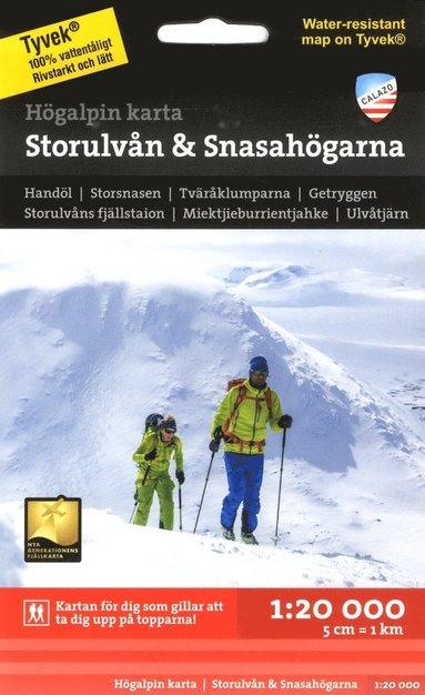 bokomslag Högalpin karta Storulvån & Snasahögarna 1:20.000