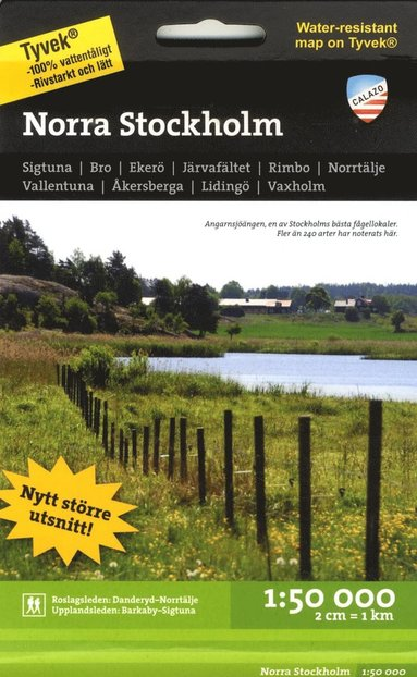 bokomslag Norra Stockholm 1:50.000 2u