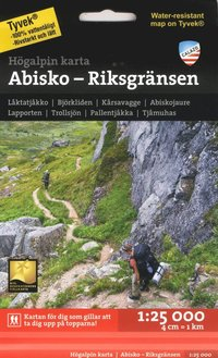 bokomslag Högalpin karta Abisko, Björkliden - Riksgränsen 1:25.000