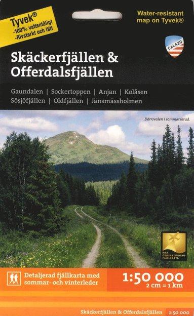 bokomslag Skäckerfjällen & Offerdalsfjällen 1:50.000
