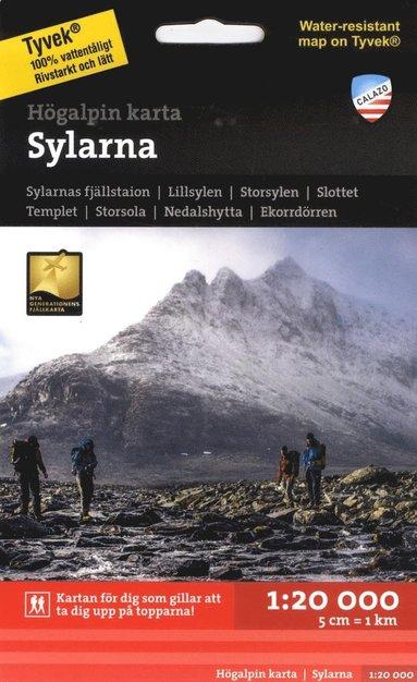 bokomslag Högalpin karta Sylarna 1:20.000