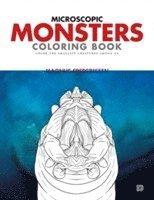 bokomslag Microscopic monsters coloring book