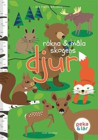 bokomslag Räkna och måla skogens djur