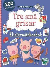 bokomslag Tre små grisar - klistermärkesbok