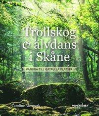 bokomslag Trollskog och älvdans i Skåne : vandra till gåtfulla platser