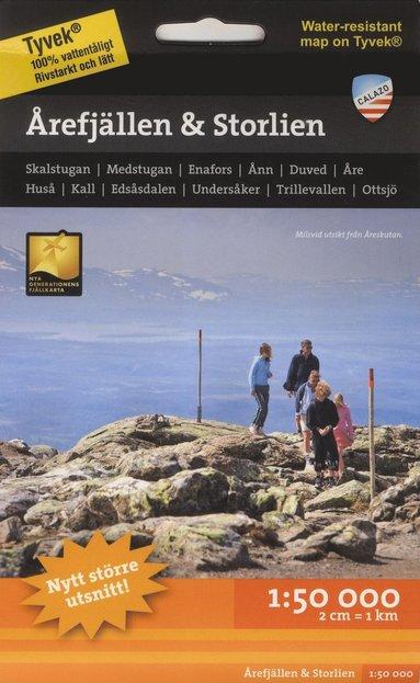 bokomslag Årefjällen och Storlien 1:50.000