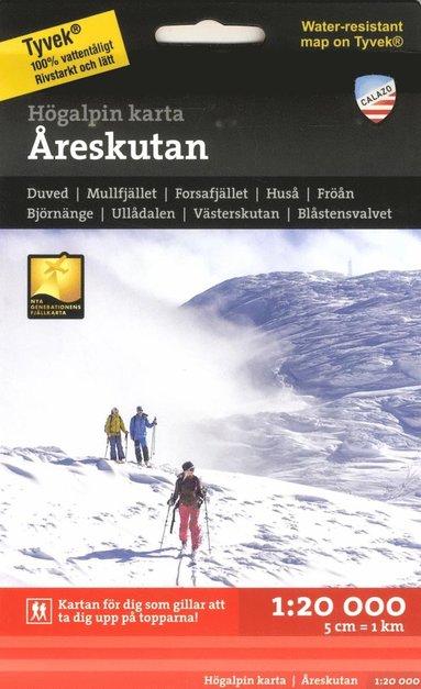 bokomslag Högalpin karta Åreskutan 1:20.000