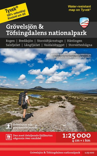 bokomslag Grövelsjön & Töfsingdalens nationalpark 1:25.000
