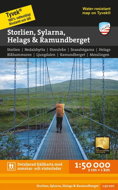 bokomslag Storlien Sylarna Helags Ramundberget 1:50.000