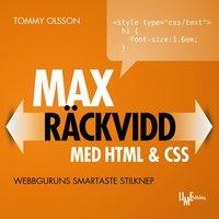 bokomslag Max räckvidd med HTML & CSS : webbguruns smartaste stilknep